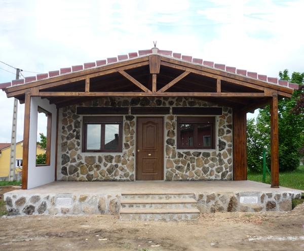 modelo elena porche lateral u casa de hormign acero y piedra de m