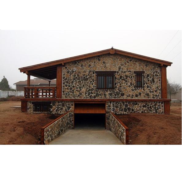 Casa de hormig n acero y piedra modelo madrid - Casas de acero y hormigon precios ...