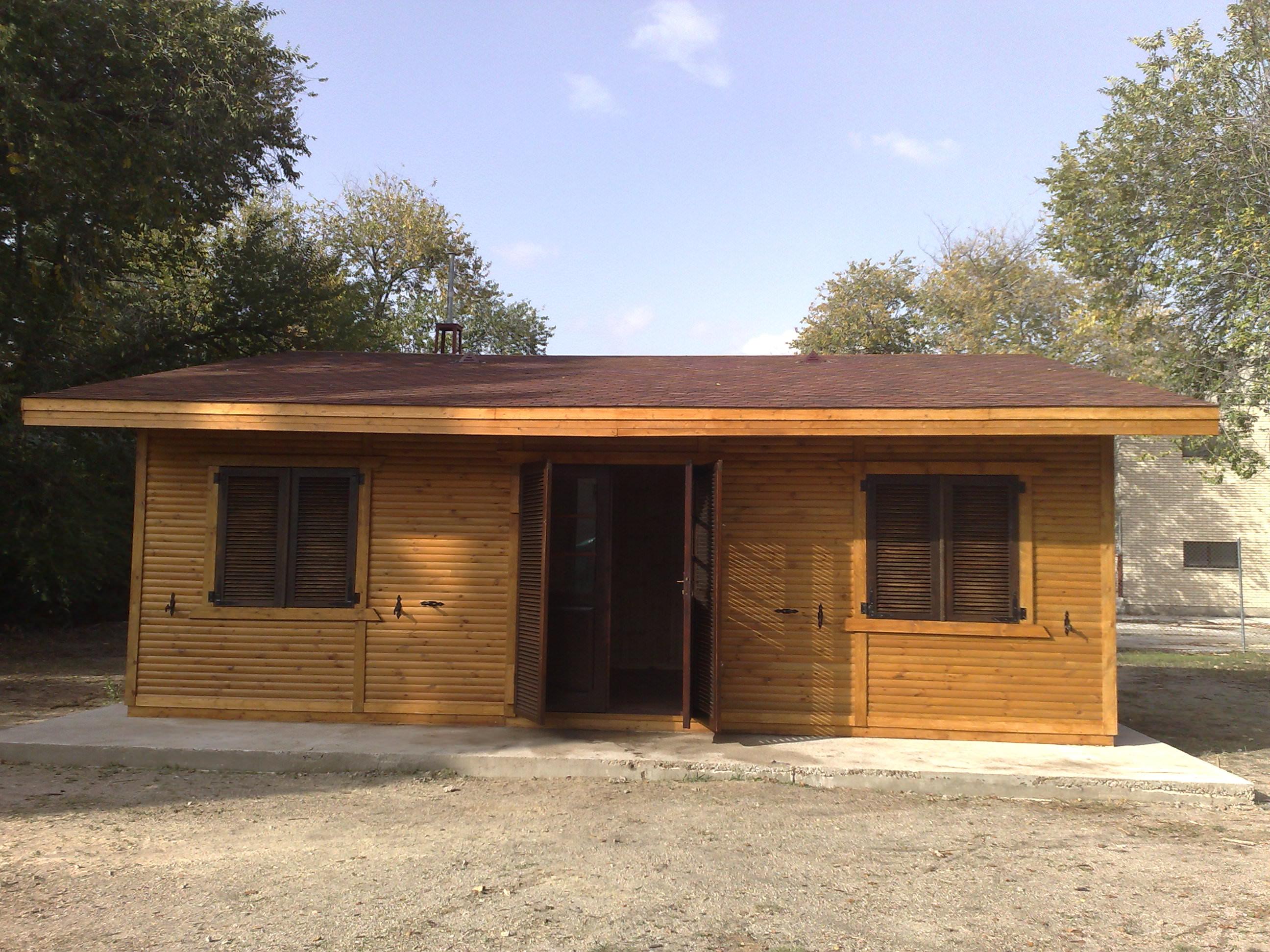 Caba as y garaje aislado comprar casas de madera for Oferta cabanas de madera