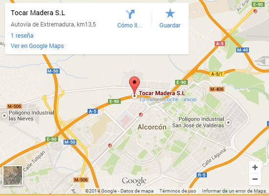 Mapa Tocarmadera: Donde estamos