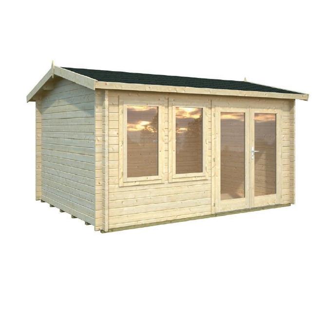 Modelo iris 11 1 m2 comprar casa de madera de 11 1 m2 for Tejados de madera precio m2