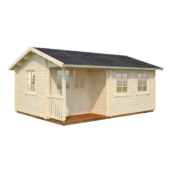 Modelo susanna 16 4 m2 comprar casa de madera de 16 4 m2 for Tejados de madera precio m2