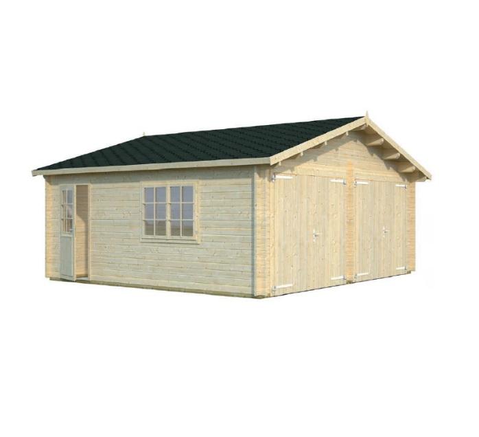 Modelo roger 28 4 m2 puerta cochera de madera comprar for Garajes modelos