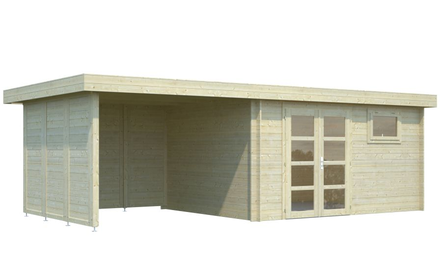 Modelo elsa 11 3 8 1 m2 comprar casa de madera de 11 3 for Tejados de madera precio m2