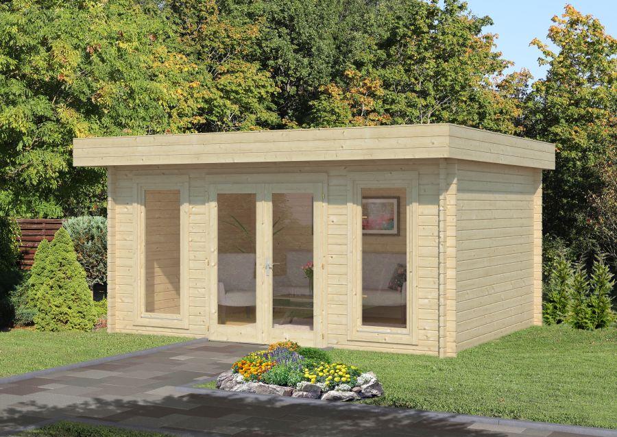 Modelo bret 14 8 m2 comprar casa de madera de 14 8 m2 comprar casas de madera - Tejado a un agua ...