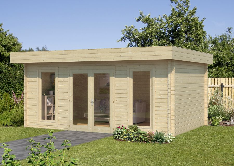 Modelo bret 19 9 m2 comprar casa de madera de 19 9 m2 comprar casas de madera - Tejado a un agua ...